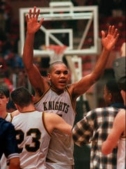The joy of victory: Ryan Blackwell celebrates with