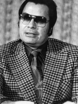 This Jan. 1976 photo shows the Rev. Jim Jones, pastor of peoples Temple in San Francisco.
