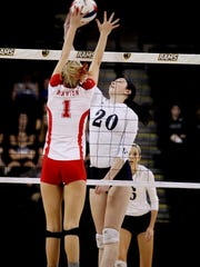 Lee's Alyx Steitz (20) will be playing college volleyball