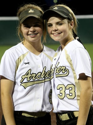 Twin sisters Victoria Rater, left, and Vanessa Rater have had a profound impact on a talented Archer City softball team during their freshman years.