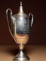 The 1968 Wimbledon Ladies Doubles Champion trophy is
