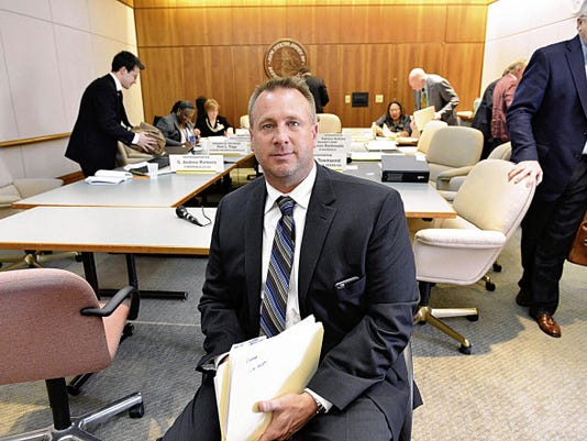 San Juan County District Attorney Rick Tedrow is pictured on Thursday afternoon after a meeting in a committee room at the New Mexico State Capitol in Santa Fe.