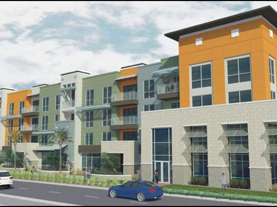 A rendering of the proposed project at the site of