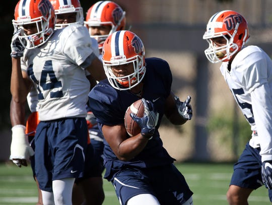 UTEP wide receiver Kavika Johnson grabs some yards