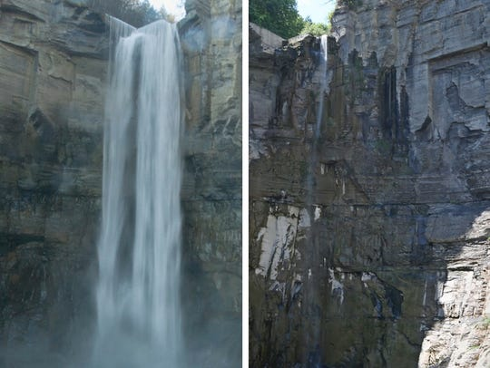 A comparison of Taughannock Falls.