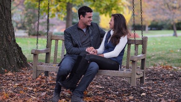 Caila and Ben enjoy a moment together during her hometown