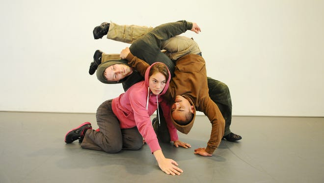 """Inspired by the iconic video game, Arch 8's """"Tetris+"""" features four dancers, creating interlocking shapes that constantly change."""