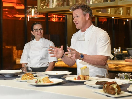 Gordon Ramsay shares some of the dishes at his Baltimore