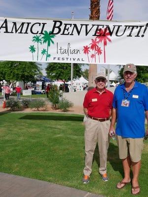 Senior vice president Mitch Blumberg and Desert Arc CEO Richard Balocco.