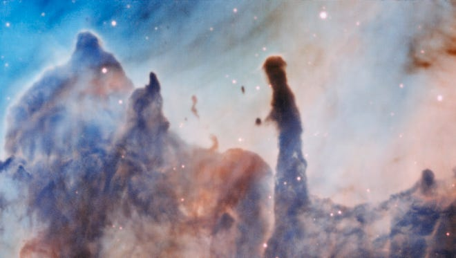 This image was taken by the MUSE instrument, mounted on ESO's Very Large Telescope and shows a portion of the Carina Nebula, which is 7,500 light-years away from Earth..