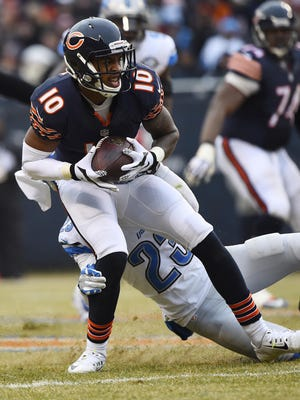 Wide receiver Marquess Wilson was a seventh-round draft pick of the Bears in 2013.