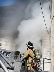Firefighters were called to the 500 block of Weidman