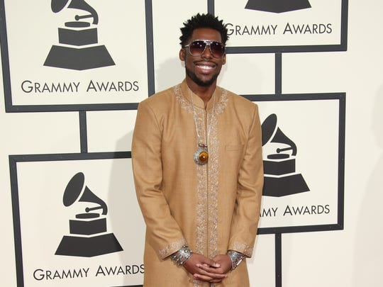 Flying Lotus arrives on the red carpet during the 58th Grammy Awards at the Staples Center.