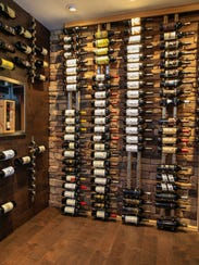 Well stocked wine vault.