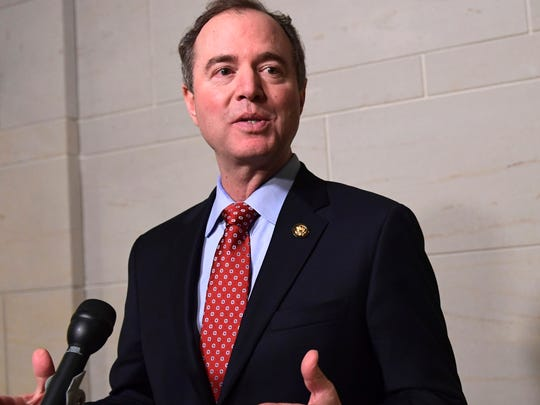 Rep. Adam Schiff, D-Calif., is pictured speaking to
