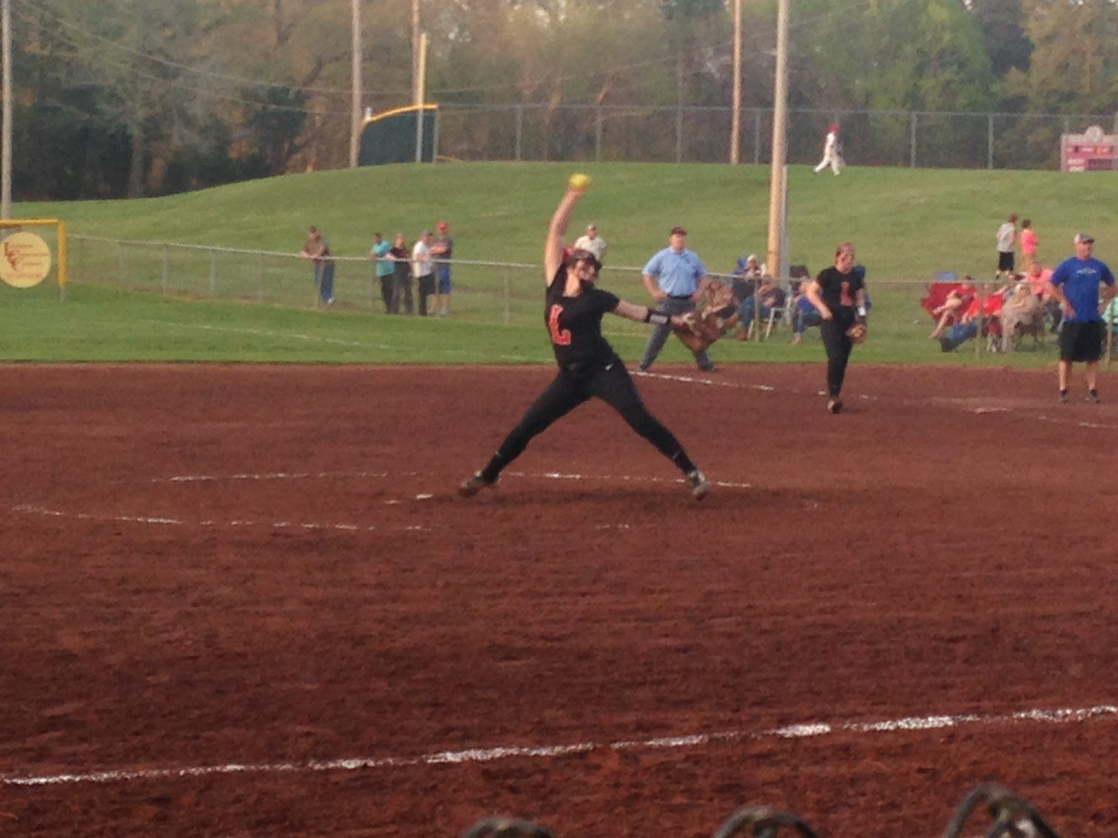 Lexington pitcher Natalie Cogdell threw a five-hit shutout against Chester County on Tuesday.