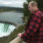 Terry McAllister of Bigfork checks out the Kerr Dam, near Polson in 2005.