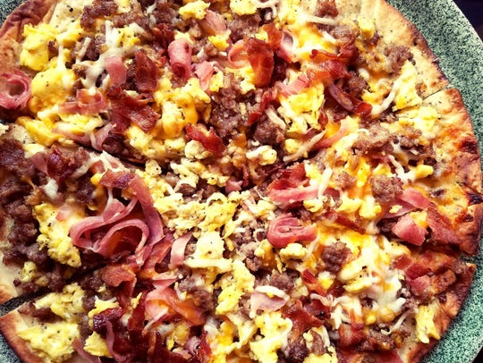 The breakfast pizza from Cosi Cucina is a local favorite.
