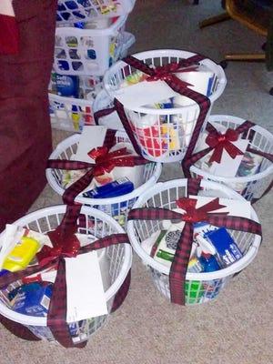 Nancy Jones donates baskets filled with supplies in memory of her son, Ben Jones.