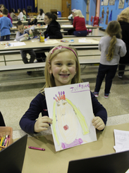 Julianna Wurcel shows off the royal self-portrait drawing
