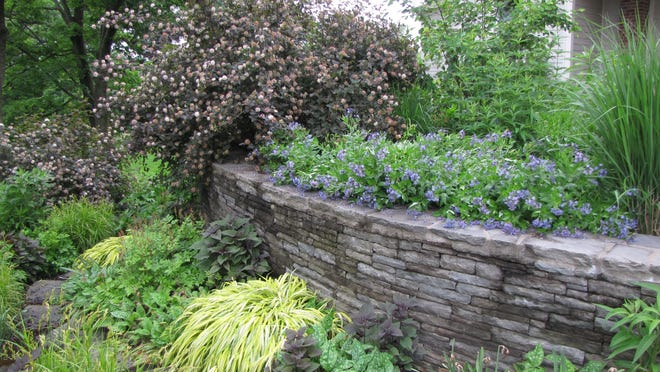 This garden, designed, installed and maintained by Sheila Moloney a garden and landscape designer and horticulturist, as well as owner of Moloney Design and Horticulture in Rhinebeck, is strictly organic and flourishes without pesticides or herbicides.