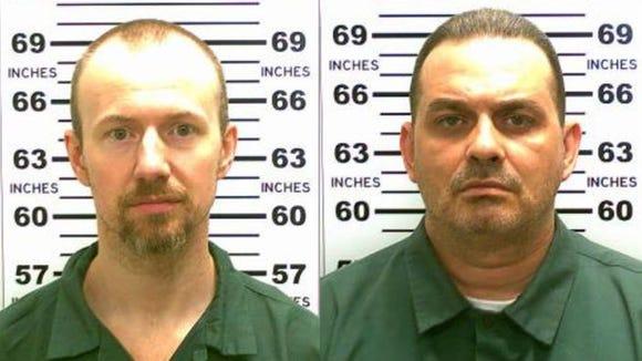 David Sweat, left, and Richard Matt. Sweat was captured alive.