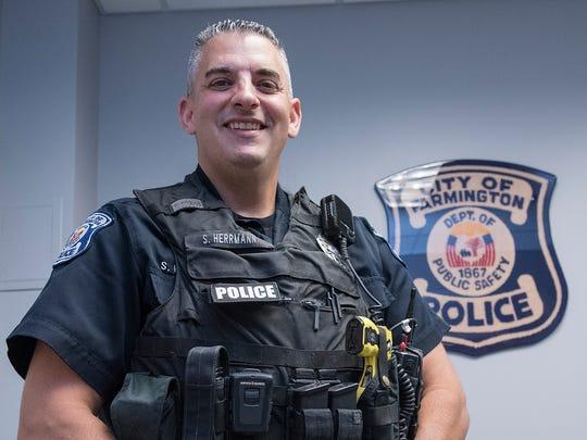 Farmington Police Officer Scott Herrmann joined the department in February 1992.