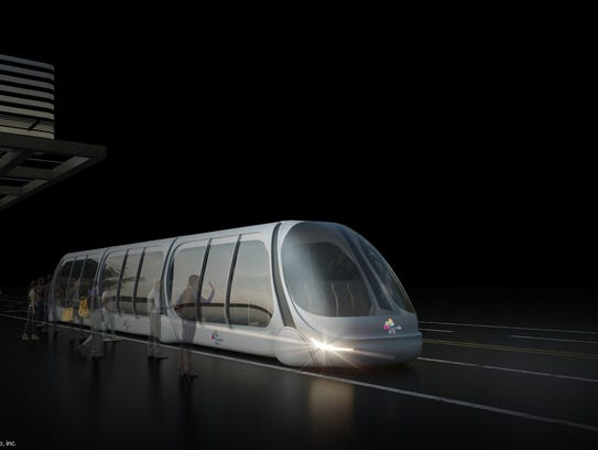 Commuter train that would operate on dedicated AV lanes