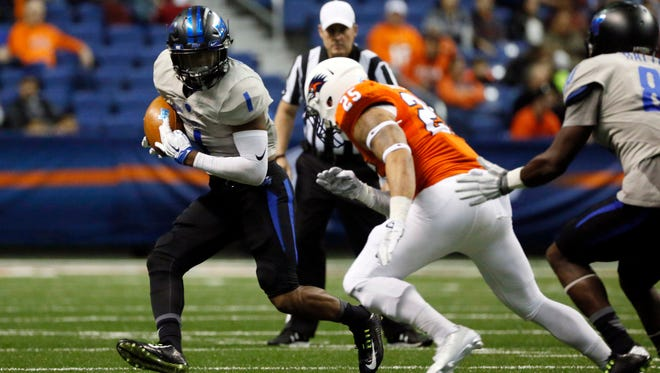 MTSU running back Shane Tucker (1) is ready to enter his final year at full strength.