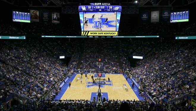 UK fans have a larger scoreboard to watch at Rupp Arena this year as they play Clarion.