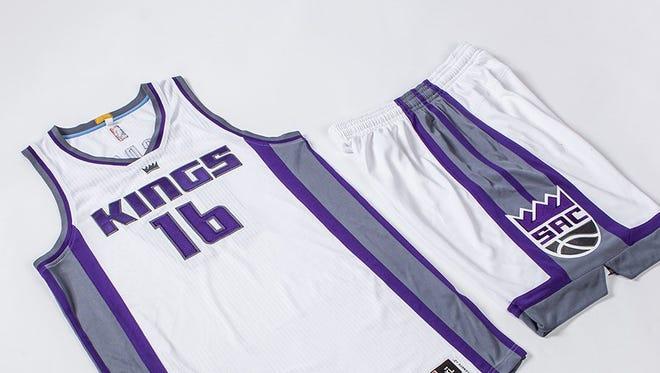 The Sacramento Kings' new home white uniform.