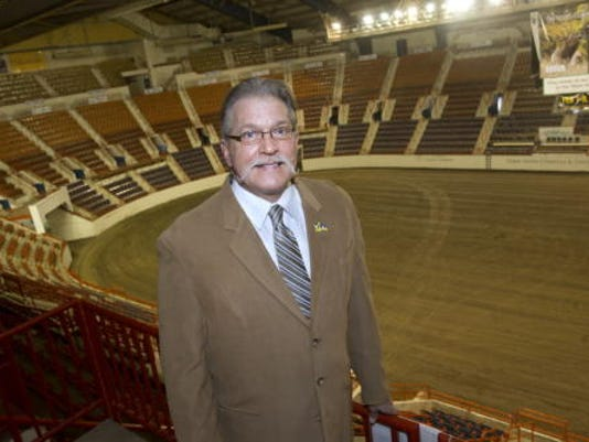 Mike Waugh poses in the large arena of the Farm Show Complex in Harrisburg, Pa. earlier this year. Waugh resigned as a York County state senator and has been appointed by Gov. Tom Corbett to serve as executive director of the Pennsylvania Farm Show.