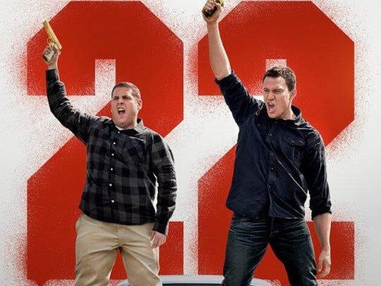 "Jonah Hill and Channing Tatum in ""22 Jump Street"" (2014)."