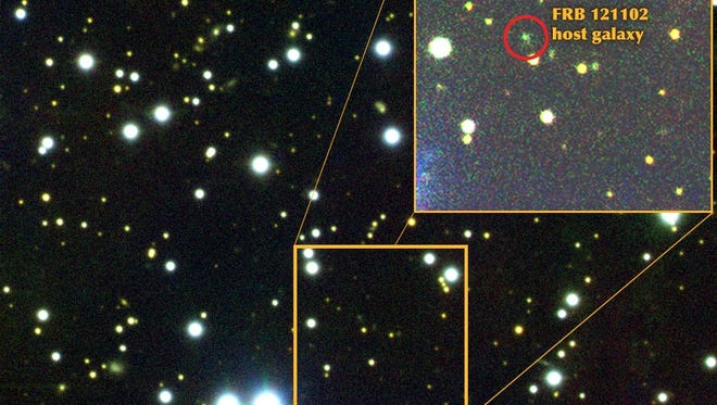 The repeating fast radio burst came from a galaxy some 3 billion light years away from Earth.