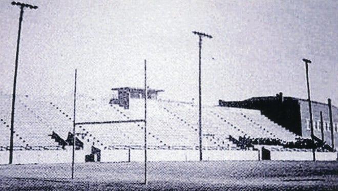 Hutchins Stadium, Ysleta High School, circa 1951.
