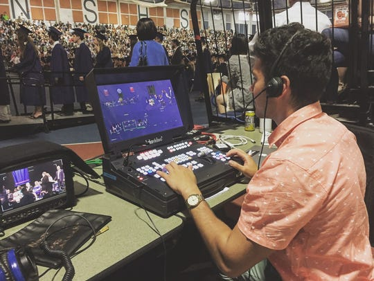 Wingdale's Greg Camillone directing the broadcast of