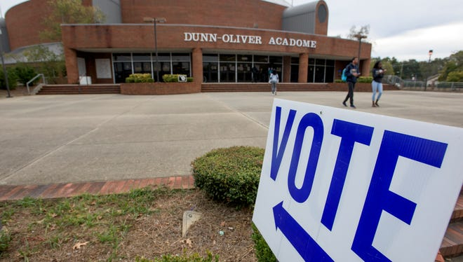 Voters go to the polls on the Alabama State University Campus in Montgomery, Ala. on Tuesday November 8, 2016.