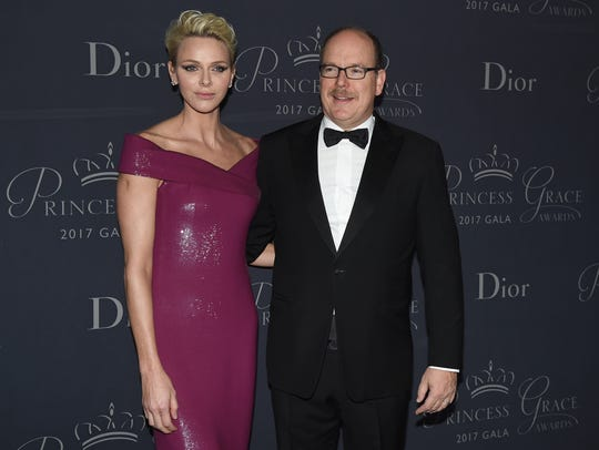 Princess Charlene Prince Albert II of Monaco at the