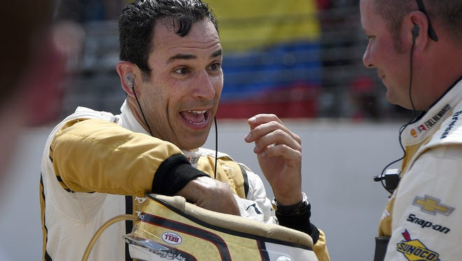 """I did everything I could -- trust me,"" Castroneves said after finishing second Sunday."