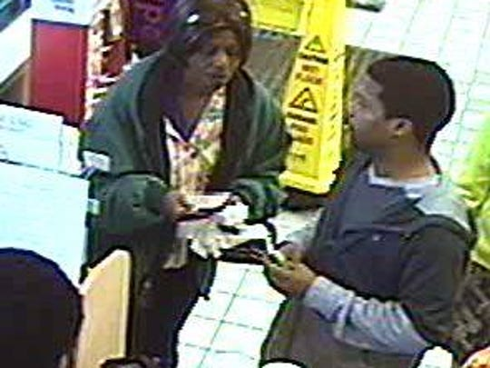 Police reportthis woman is a suspect in the theft of a Children's Miracle Network Hospitals donation jar at the Speedway at the corner of West Fourth Street and North Lexington-Springmill Road in Ontario.