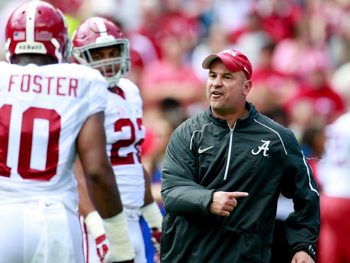Alabama Crimson Tide defensive coordinator Jeremy Pruitt