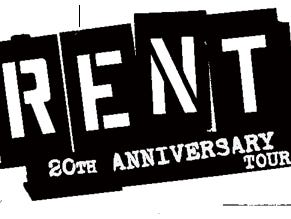 Enter to win tickets to see RENT - 20th Anniversary Tour.  Enter 10/12-10/22.