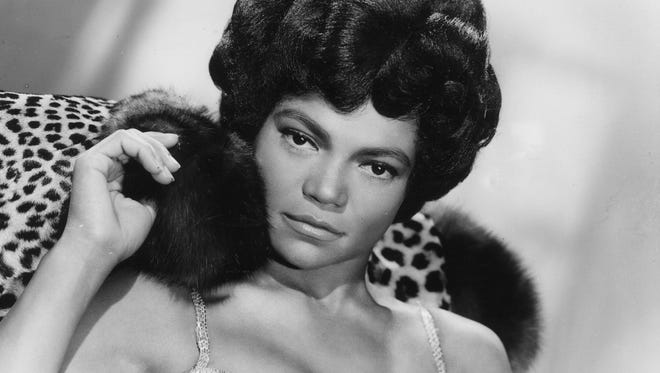 1960:  (FILE PHOTO) American singer and actress Eartha Kitt decked poses in leopard skin and furs for her London stage show 'Talk of the Town', a 45-minute programme of old and new numbers on September 9, 1960. Kitt, 81 died of colon cancer on December 25, 2008 in New York. (Photo by Central Press/Getty Images) ORG XMIT: 80091809 GTY ID: /46/HUTY/14936/13