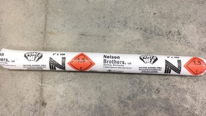 Photo of similar product to stolen ammonium nitrate blasting agent.