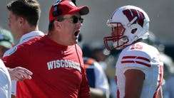 Wisconsin coach Paul Chryst and the Badgers took down