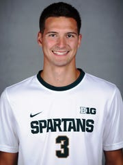 Jimmy Fiscus has played every minute of every game this season as a defender for Michigan State.