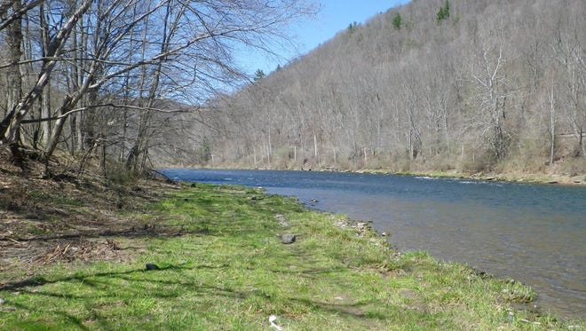 A nice spring day is spent along the West Branch of the Delaware River near Balls Eddy in Pennsylvania.