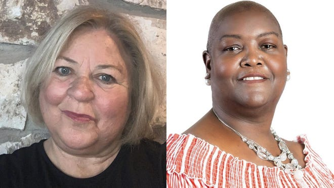 Democratic candidate Cheryl Reese (right) is challenging Republican incumbent Donna Snowden for the Bastrop County Precinct 4 commissioner's seat.