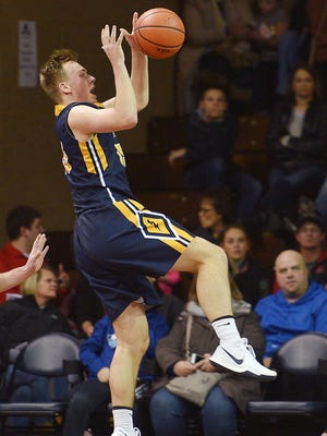 Tea Area's Noah Freidel crossed the 1,000-point mark for his career in demonstrative fashion Tuesday night.