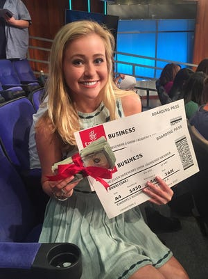 Montgomery native Meredith Kocan got on the Ellen DeGeneres show, winning a trip to Dubai for the entire audience.